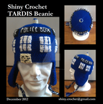 TARDIS Beanie by ShinyCrochet