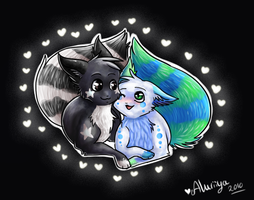 .: Surrounded by hearts :. by Aluri