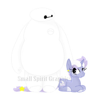 Baymax and Lavender Skies by SmallSpiritGraphics
