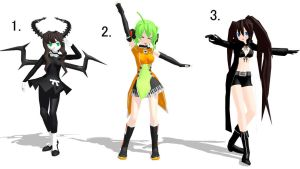 MMD Pose Pack 3 by CrimsonKingie
