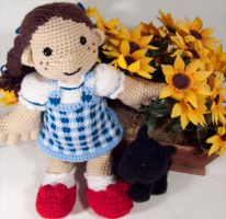 Dorothy and Toto amigurumi by BunnieBard