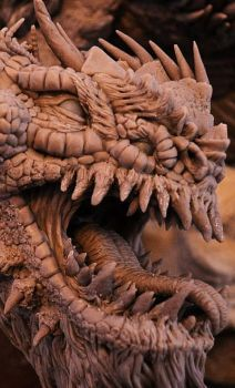 Bull Dragon Wyrm Sculpt Close by AntWatkins