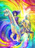 Magic Alpaca Ride by jesterry