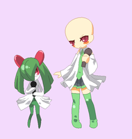 BASE 30 - Cosplay as Kirlia ... and Miku? by Rainfall-Bases