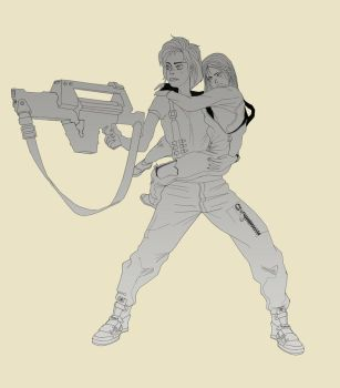 Ripley and Newt - wip#3 by MatthewCHRC