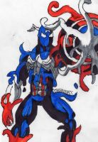 Symbiote Captain America by ChahlesXavier