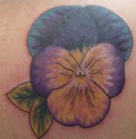 Pansy Tattoo After by IAteAllMyPaste