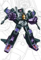 IDW G1 Card - Skywarp by GuidoGuidi