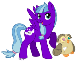 Night Owl and Random Plush Owl by PterosaurPony