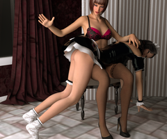 Spanking the maid by psychicdelica