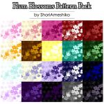 Plum Blossoms Pattern Pack by SewDesuNe