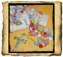 Glow in the dark Day of the Dead Rosary by grimdeva