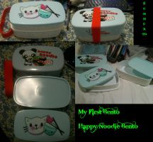 Happy Noodle Bento by AsianKittyVamp