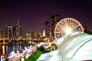 Skylines and Ferris Wheels by BowEchoMedia