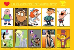 My Top 10 Characters That Deserve Better by Toongirl18