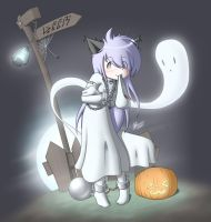 Seasonal Ghost Neko by Alodo