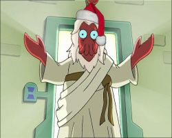 Zoidberg Santa Christ by aquabatflyer
