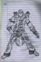 Connor Kenway Sketch by iamtheNoNamer
