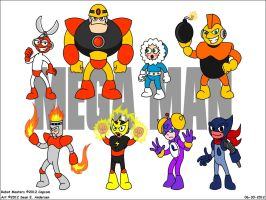Mega Man 1 Robot Masters by TheRealSneakers