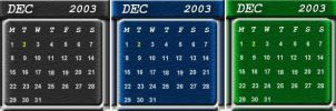 3Pack DX Calendars by fivesballs