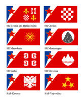 Yugoslavian regional flags by Leoninia