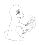 Shiny's Charmander-bw by air-bourne