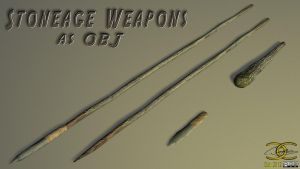 Stoneage Weapons as OBJ by ancestorsrelic