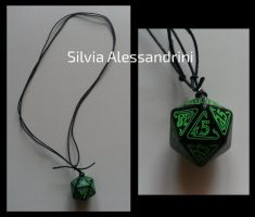 Call of Cthulhu dice necklace by SilvieTepes