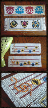 LoZ Cross Stitched Bookmarks by CaptStaccato