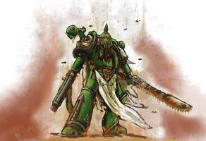 Death Guard Chaos Space Marine by Solomon-Mordecai