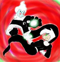 Danny Phantom vs Evil Danny by Scardy