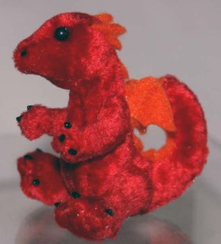 Tiny Red Baby Dragon Plush by The-GoblinQueen