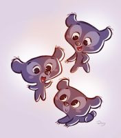 Chibis Triplets Cubs from Pixar's Brave by princekido