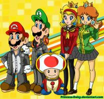 Super Mario crossover - Persona 4 by Princesa-Daisy