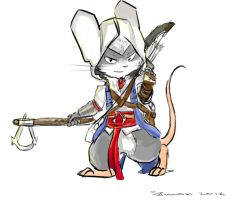AC3: Connor Kenway mouse by SimonTheFox1