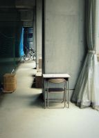 a desk and  columns::: by aopan