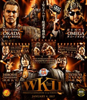 Wrestle Kingdom 11 poster. by THE-MFSTER-DESIGNS