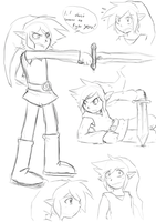 Link Doodles by UnknownSpy