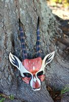 African Gazelle Leather Handmade Mask by senorwong