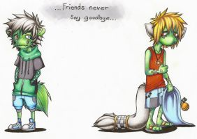 Friends never just say goodbye by AtomicRay