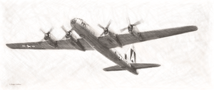 Boeing B-29 Superfortress Drawing by DouglasCastleman