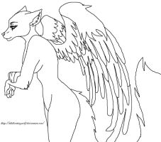 Angel Furry Base by TheHuntingWolf