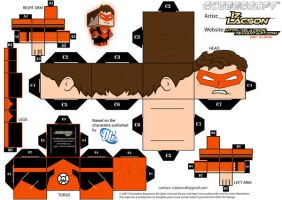 015 Hal Jordan Orange Lantern Template by IzLacson
