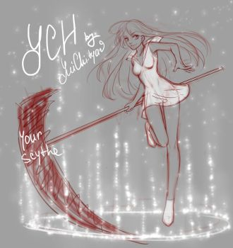 [closed] Ych auction girl with a scythe by YuiChi-tyan