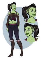 [commission][character design] Orc Rogue by SirMeo