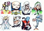 Marvel Sketch Card Samples by piotrov
