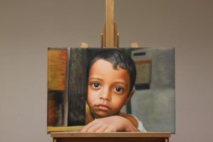 Sri Lanka Child Oil Painting by Oil-Gallery
