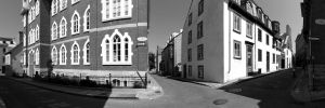 Quebec Panorma Black and White by jasonwilde