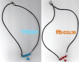 TRONzler Necklaces by otaku-jrock
