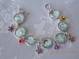 Fairy and flowers design bracelet by Quested-Creations